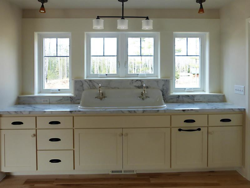 Kitchen with large sink
