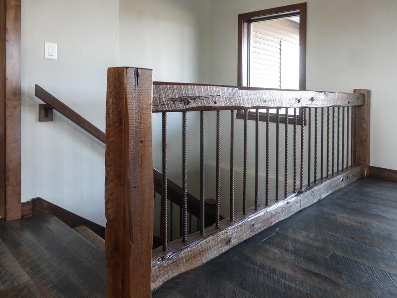 Rustic wooden stairway