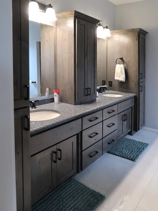 Bathroom cabinets with double sink