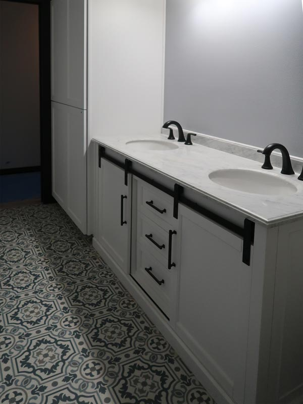 Bathroom cabinets with double sinks