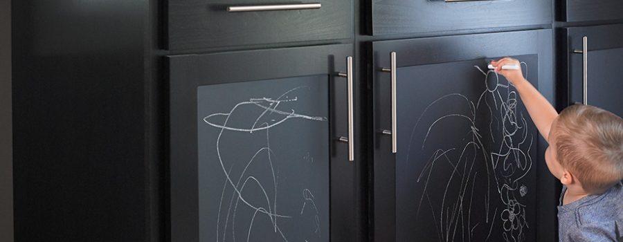 Black chalk cabinets