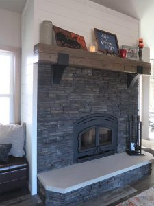 Shiplap for Fireplace Surround